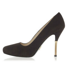 PRADA New woman Brown Suede Leather Heel Pumps Decolletes Made in Italy