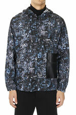 BALENCIAGA Men New GREENLAND Hooded Laser Cut Pocket Windbreaker Jacket NWT
