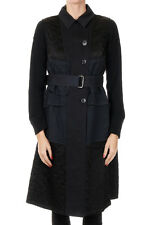 DRIES VAN NOTEN New Woman Blue Sleeveless Cotton Coat Trench NWT