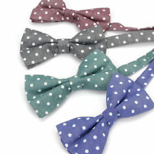 Adjustable Vintage Mens Cotton Bow Tie Polka Dots Wedding Party Tuxedo Butterfly