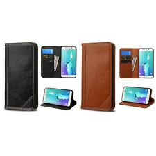 For Samsung Galaxy S6 Edge Plus Genuine Real Leather MyJacket Wallet Case