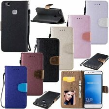 Luxury Silk Flip Leather Cards Stand Wallet Case Cover For Huawei Ascend P9 Lite