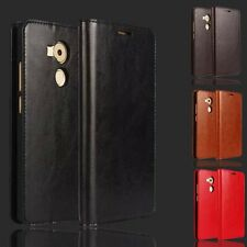 Luxury Genuine Real Leather Wallet Phone Case Cover Flip Stand For Smart Phone