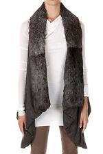 RICK OWENS LILIES Woman Sleeveless Jacket with Fur Made in Italy