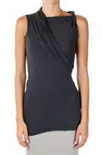 RICK OWENS LILIES New Woman Passport TWISTED Top Sleeveless Tee Made in Italy