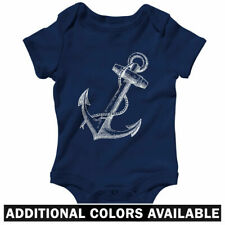 Anchor One Piece - Baby Infant Creeper Romper NB-24M  Gift Hipster Nautical Navy