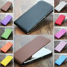 New Genuine Real Leather Cover Vertical Magnetic Flip Phone Case For Sony Xperia