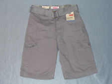 NWT Boys Levi's Belted Relaxed Cargo Shorts - U Pick Size - 12,18,20 MSRP $42