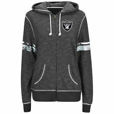 NFL Oakland Raiders Majestic Women's Athletic Tradition Full-Zip Hoodie - Black