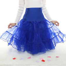 Women Tutu Dance Petticoat Short Dress Skirt Wedding Underskirt