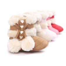 Baby Girl Plush Cotton Boots Children's Non-Slip Crib Shoes Winter Ankle Booties