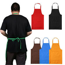 Chef Apron With Pocket Plain Cooking Butchers Kitchen Cooking Craft Baking