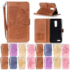 New For ZTE ZMax Pro Z981 Flip Magnetic PU Leather Card Wallet Case Stand Cover