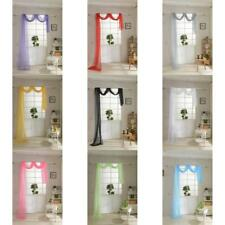 550*80cm Solid Balcony Window Curtain Voile Valance Panel Sheer Scarf Room Decor