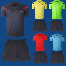 Men's Soccer Football Referee Jersey Short Sleeve Shirt Shorts Uniforms