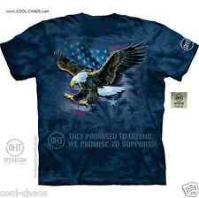 American Pride US Flag Eagle T-Shirt/They Defend,We support! US Troops,OHT Tee