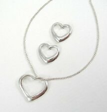 Sterling Silver Heart Earring and Pendant Set