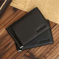 Bifold Card Credit Holder Wallet Purse Money Clip Genuine Leather