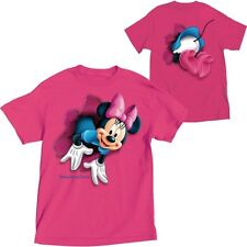 Disney Adult T-Shirt Minnie Mouse Pop Out Florida Wow Pink