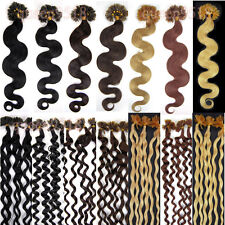 """20""""100S Pre Bonded U/NAIL Kertain Tip Wavy Remy Human Hair Extensions 0.5g/s"""