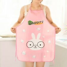 Lovely Cartoon Women Kitchen Waterproof Apron Restaurant Home Cooking Bib Aprons