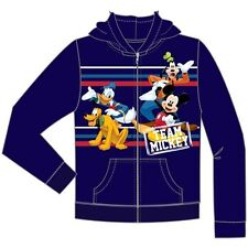 Disney Youth Team Mickey Donald Goofy Pluto Zip Up Hoodie Navy