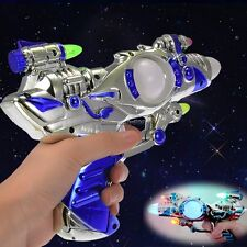 LED Ray Space Gun Pistol Flashing With Multi-Colo/ Sound Effects Halloween Party