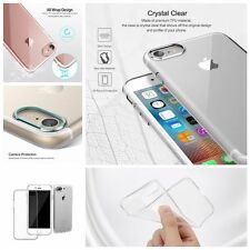 Transparent Soft TPU Phone Case Cover With Anti-Dust Plug for IPhone 7/ 7 Plus