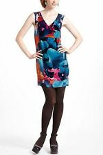 NEW Anthropologie Silk Velvet Night Peony Floral Dress by Leifsdottir Various Sz