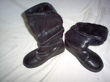 G By Guess Women Size 6 M Black Winter Boots Preowned  Lite Wear