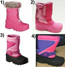 Girls Winter Snow Boots: Water/Weather Resistant Toddler/Youth Size 11, 1 & 4