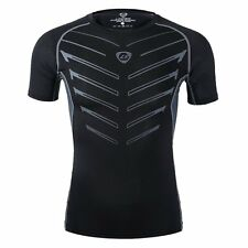 Stylish Mens Short Sleeve Quick Dry Sports Fit Shirt Athletic Apparel Tight