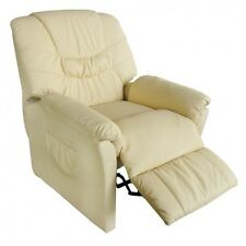 Electric Massage Chair Leather Home Office Recliner Sofa Heated Relax Armchair