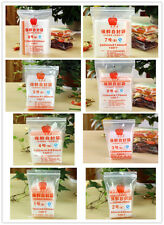 100 PCS Reclosable Clear Poly Zip Lock Bags Resealable Bag Plastic Ziplock New