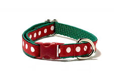 Kitten Cat Extra Small Dog Collar Red Polka Dot Christmas Cute Tiny Dog Collar