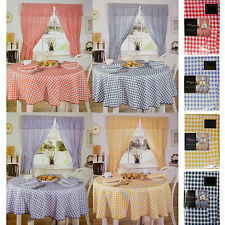 Gingham Check Kitchen Linen in 4 Colours - Choose Tablecloths, Napkins, Curtains