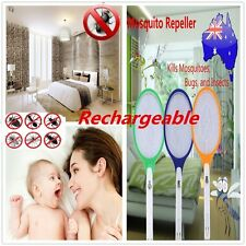 Rechargeable LED Electric Bug Pest Fly Mosquito Killer Swatter Zapper Racket GL