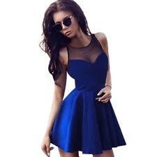 Spring Summer Women Sleeveless Dress Ladies Evening Party Dress