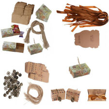 50Pcs Vintage Kraft Paper Candy Chocolate Gift Boxes Wedding Baby Shower Favor