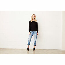 Women Flowy Long Sleeve T Shirt Off Shoulder Casual Marble Dolman Style Lady Top