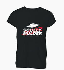Scully Mulder Files Truth Is Out There UFO Aliens Ladies Mens T-Shirt Tshirt Wom