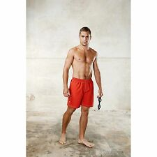 Proact Mens Swimming Shorts Mesh Lined Elasticated Waist Drawcord Side Pockets