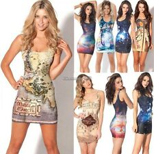 Fashion Sexy Space Galaxy top The Hobbit Middle Earth Map Women Short Mini Dress