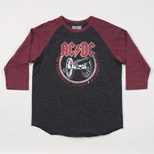 "AC/DC ""For Those About To Rock"" We Salute You Maroon Sleeve Raglan Tee Rock Band"