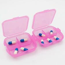 Storage Container Holder Double Layer Jewelry Pill Box Case