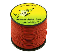 Hot Red 100/300/500/1000M Dyneema 100%PE Spectra Braid Fishing Line 6LB-300L