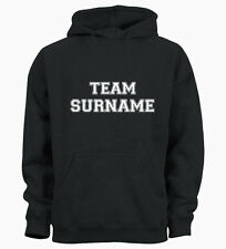 Team Personalised Surname Hip Cool Family Custom Name Hoody Hoodie Mens Womens L