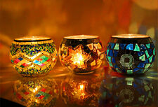 new 1pc Mosaic Glass Candle holder Tealight Votive holder for wedding Home deco