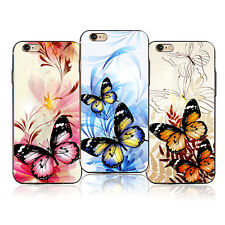 Flower Butterfly Phone Case Cover for iPhone 4 4S SE Samsung Galaxy S7 Hot Sale
