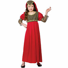 Girls Princess Juliet Red Costume Child Role Play Party Halloween Fancy Dress Up